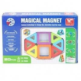 Магнитный конструктор 3D Magical Magnet 20 деталей 701 не прозрачные детали