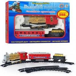 Железная дорога Голубой вагон игрушечная музыкальная 70133