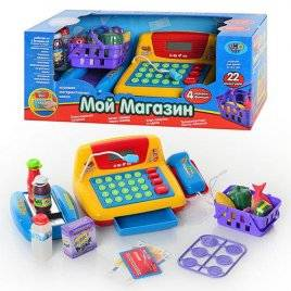 """Кассовый аппарат """"Супермаркет"""" с продуктами для детей 7016 Joy Toy"""