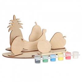 Набор для творчества деревянный с красками Фрукты или Овощи 70969/70968 Вудмастер