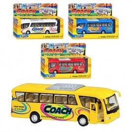 Автобус металлический детский KS 7101 W