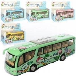 Автобус металлический инерционный 4 цвета 7103