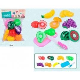 Продукты на липучке фрукты 7 штук+ досточка и нож 710A3