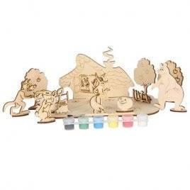 Набор для творчества деревянный с красками Сказки 71101 Вудмастер
