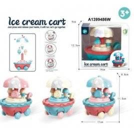 Заводная игрушка  тележка с мороженым ездит HY-711