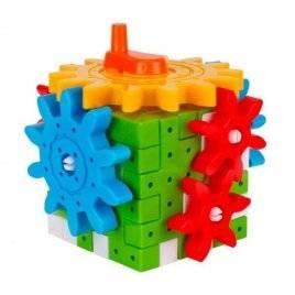Конструктор куб развивающая игрушка с шестернями 7266 ТехноК