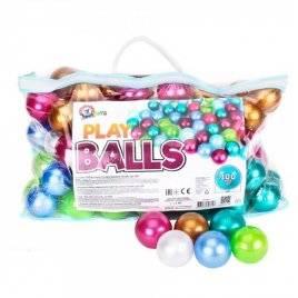 Набор шариков для сухого бассейна в сумке 100 штук перламутровые 6 см 7327 Технок