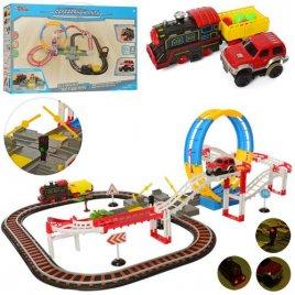 Железная дорога и трек со звуком и светом 55 деталей SW7608