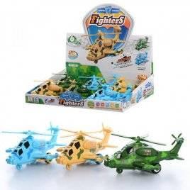 Вертолет инерционный со звуковыми и световыми эффектами 7703
