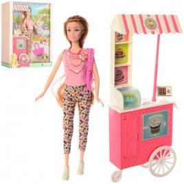 Кукла  с кафе на колесах 7727-C