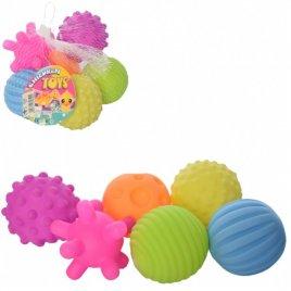 Пищалки для купания текстурные Мячики рефленые 6 штук RX7755A-B