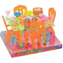 Столовая стол, 4 стульчика+ столовые приборы А8-67