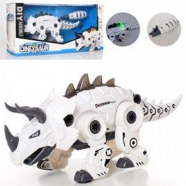Конструктор-робот на шурупах Динозавр белый 801-2