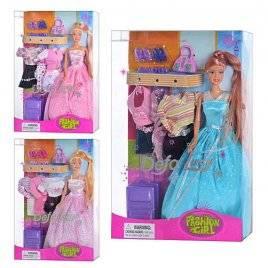 Кукла с одеждой 3 вида  8012 DEFA
