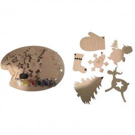 Набор для творчества Новогодний деревянный 80400-80397-80396