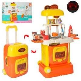 Кухня игровая в чемодане на колесах со светом и звуком W808