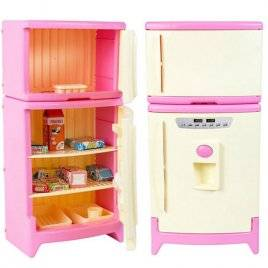 Детский игрушечный холодильник двухкамерный с реалистичными звуками и продуктами 808 Орион, Украина