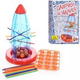 Игра головоломка Ракета с шариками и палочками 8113
