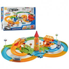 Железная дорога детская многоуровневая с мостами 37 предметов 8195