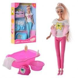 Кукла Defa с детьми и мебелью 8213
