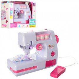 Швейная машинка детская шьет с педалью управления 823 белая
