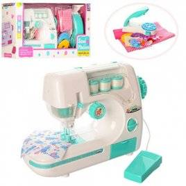 Швейная машинка для детей с педалью и и прессом для заклепок 827B