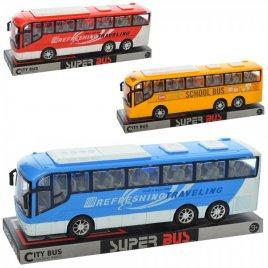 Автобус инерционный пластиковый 828-A1-A2-A3