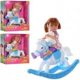 Кукла + лошадка-качалка 8296 DEFA