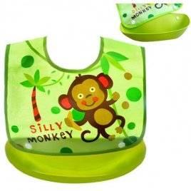 Слюнявчик детский на кнопках с карманом  R83691