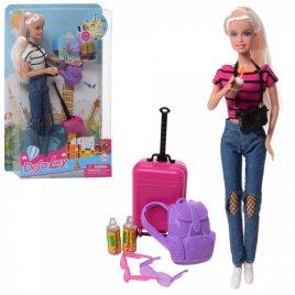 Кукла Defa Путешественница с чемоданом 8389-BF