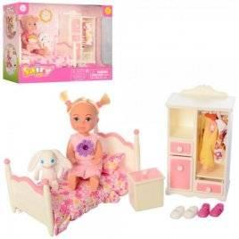 Мебель спальня + кукла с нарядом и игрушкой 8392 DEFA