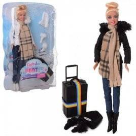 Кукла DEFA в теплой одежде с чемоданом 8424-BF