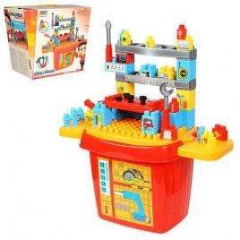 Конструктор Строительные инструменты в ящике-чемодане 8424