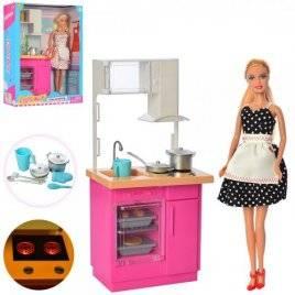 Кукла DEFA + кухня со световыми эффектами 8439-BF