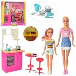 Мебель Кухня+2 куклы со световыми эффектами DEFA 8442-BF