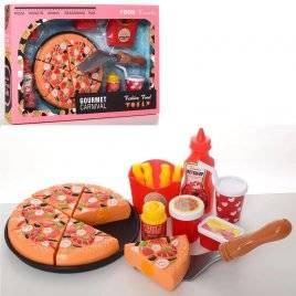 Продукты на липучке фаст-фуд пицца+ лопатка 848-180