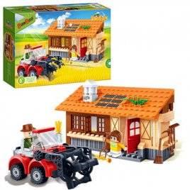 Конструктор Дом - ферма с трактором 162 детали 8583 BANBAO