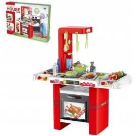 Кухня со звуком и светом 43 предмета красная 8759
