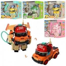 Игрушка трансформер Robocar робот-машинка + оборудование 878