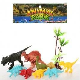 Набор динозавров  8 штук + дерево 8801-3