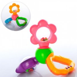 Погремушка пластмассовая с шариками Цветочек 882