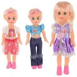 Кукла пластмассовая музыкальная со звуками и свечением 3 вида 8840
