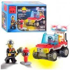 Конструктор пожарная машина 62 детали 901 BRICK