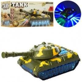 Танк ездит со звуком и 3Dсветом 9037A