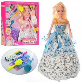 Кукла раскраска с выдувными фломастерами 904