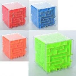 Лабиринт-головоломка Куб с шариком 907
