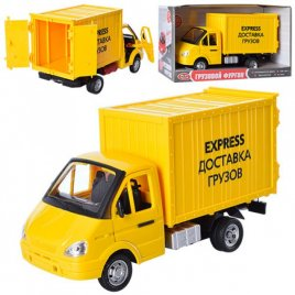 """Машина инерционная музыкальная """"Газель. Экспресс-доставка грузов"""" 9077 E Joy Toy желтая"""