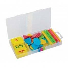 Набор Учимся считать 30 сч.палочек, цифры от 1 до 10 и геометр. фигурки 0019