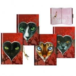 Блокнот-дневник для записей с замочком Кошки 913-ZA