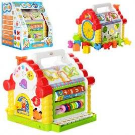 Теремок сортер Joy Toy 9196 музыкальная игрушка с пианино и ключиком
